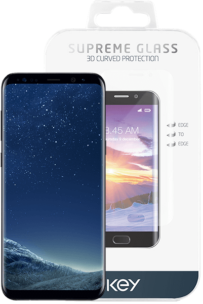 Key Supreme curved glass til Samsung S8+