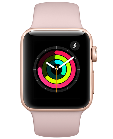 Apple Watch Serie 3, gull/rosa