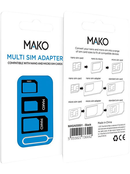 Mako 4-1 Nano Sim Card Adapter
