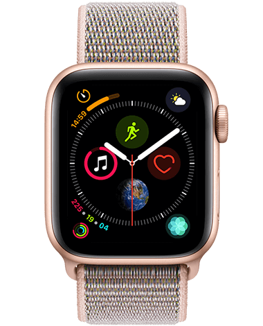 Apple Watch 4 GPS, 40 mm, gull/rosa